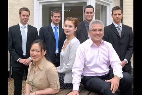Louis Scott, Aaron Joyce, Simon Fuller, Daniel Hughes, Brian Irving, Jessie Cao and Holly Davis (centre)